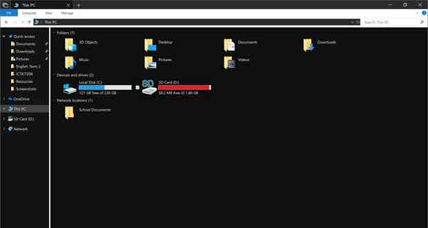Windows 10 Redstone 5, le Dark Theme est disponible pour l'explorateur de fichiers