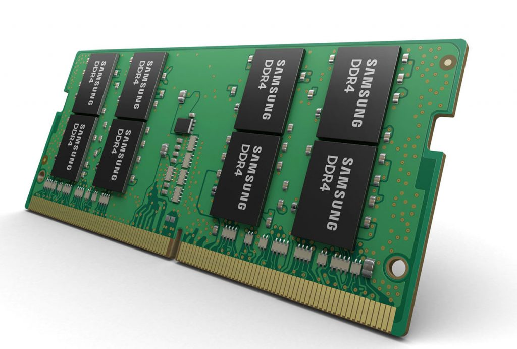 Mémoires SO-DIMM DDR4 de 32 Go en classe 10 nm de Samsung