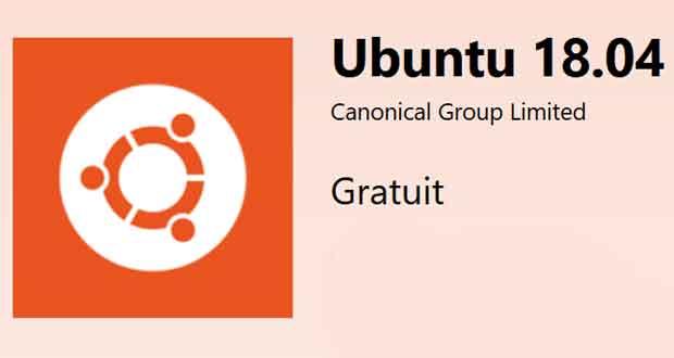 La distribution Ubuntu 18.04 est disponible en téléchargement sur le Microsoft Store.