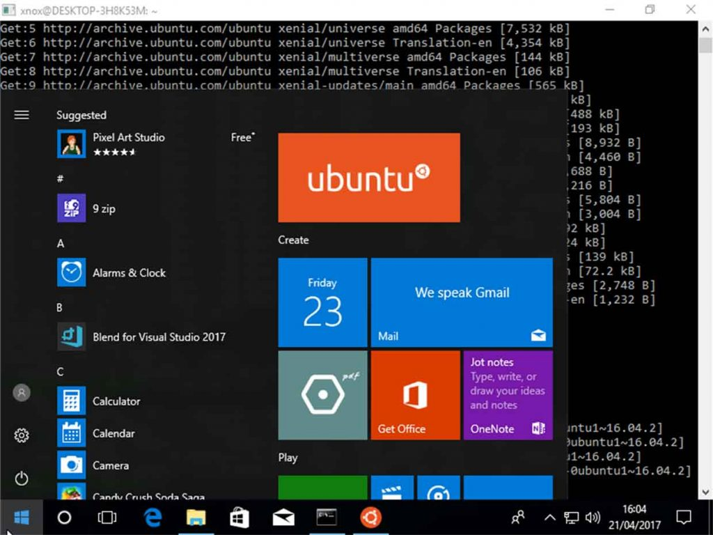 Ubuntu et windows 10 la distribution linux d barque for Windows distribution