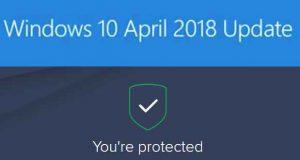 Windows 10 v1803 et Avast Antivirus