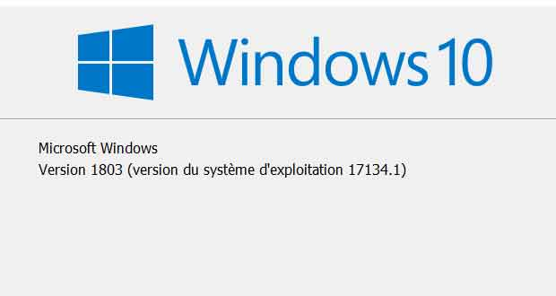 Windows 10 v1803 alias Redstone 4 ou encore Windows 10 April 2018 Update