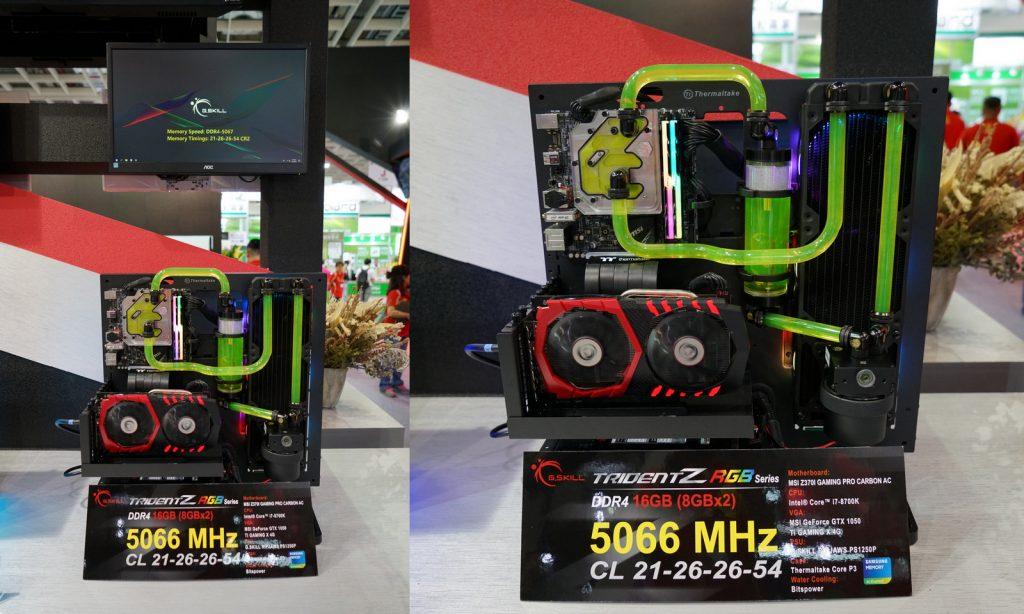 Kit Trident Z RGB 2 x 8 Go de DDR4-5066 MHz CL 21-26-26-54 de G.Skill