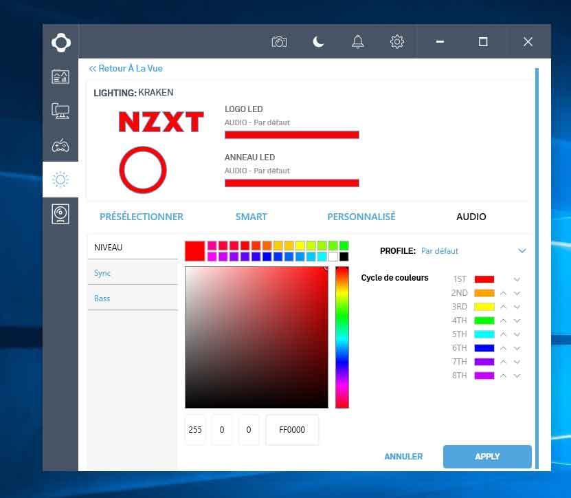 Kraken M22 de NZXT - CAM sous Windows