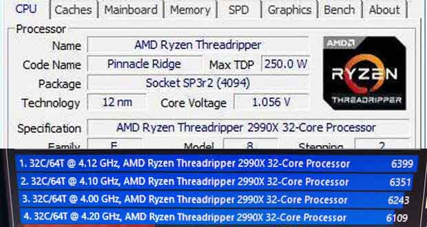 Ryzen Threadripper 2990X - CPU-Z