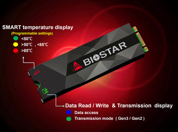 SSD M.2 2280 M500 de Biostar