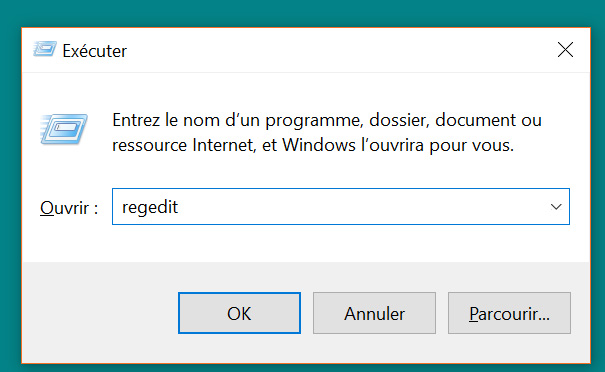 Windows 10 - Éditeur de registre