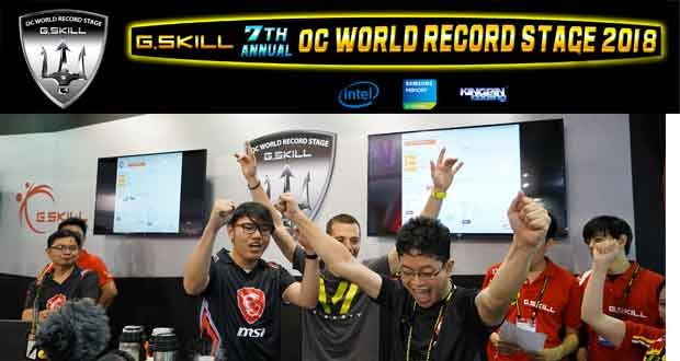 Computex 2018 – 13 records du monde en overclocking ont été battus.