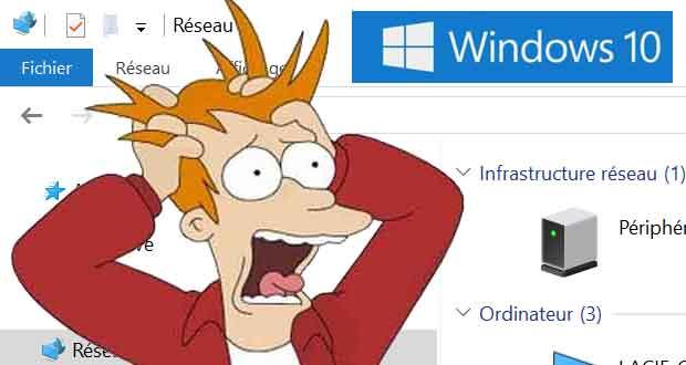 Windows 10 April 2018 Update, l'explorateur de fichiers ne trouve pas de réseau ? Solution