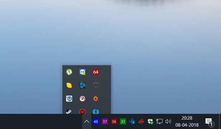 Windows 10 April 2018 Update, des icônes de la barre des tâches disparaissent