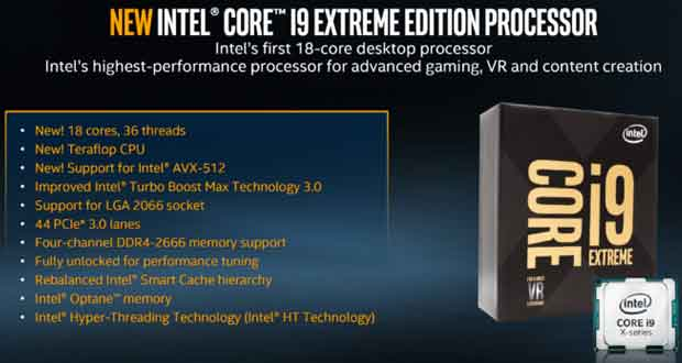Core i9 Extreme Edition d'Intel