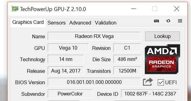 Utilitaire GPU-Z v2.10.0