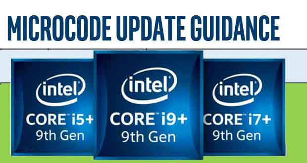 Core 9000 series - Microcode Revision Guidance