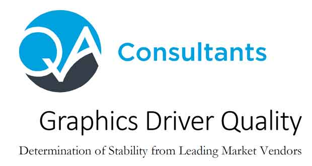 "QA Consultants – Etude ""Graphics Driver Quality"""