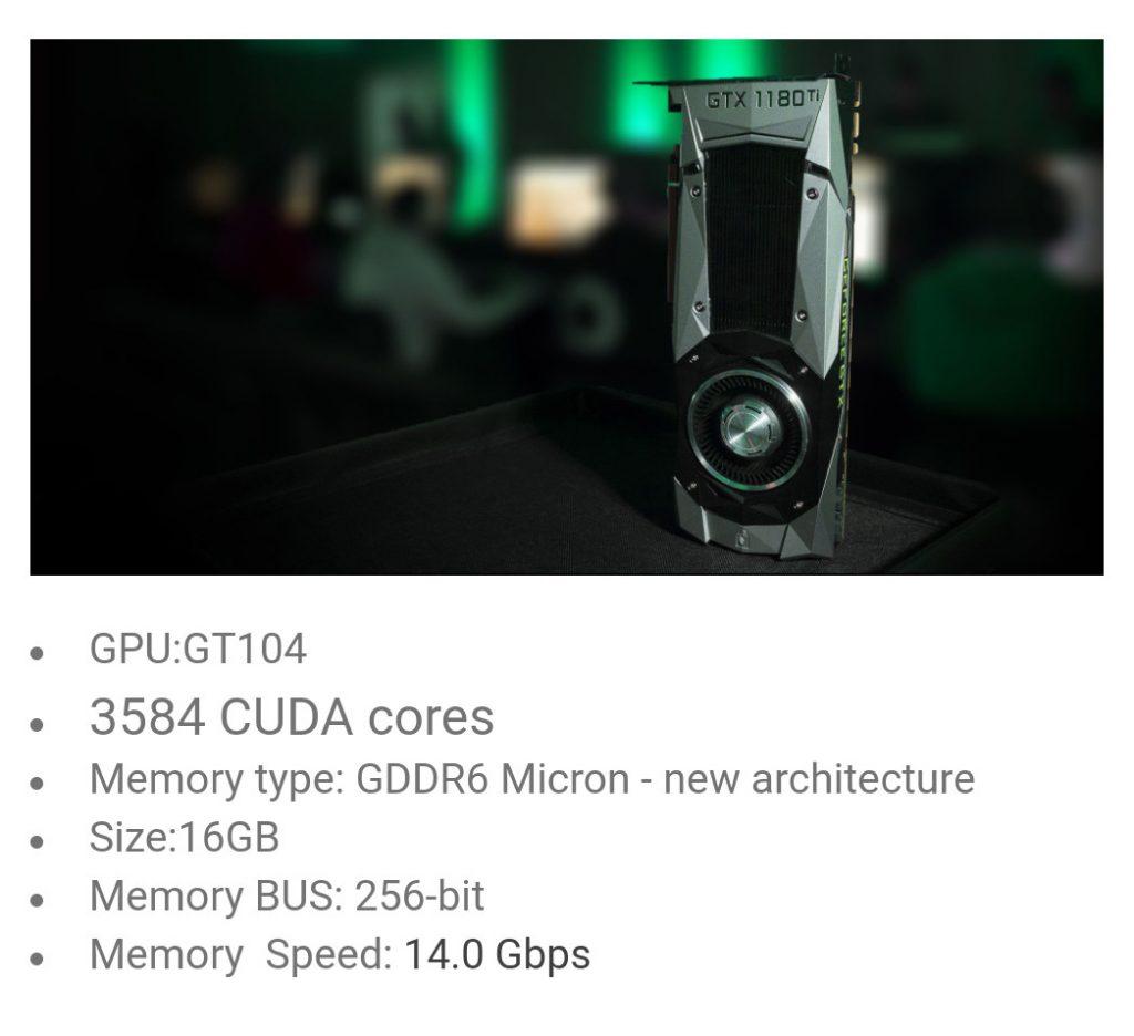 Rog Strix Gaming GeForce GTX 1180 d'Asus ?