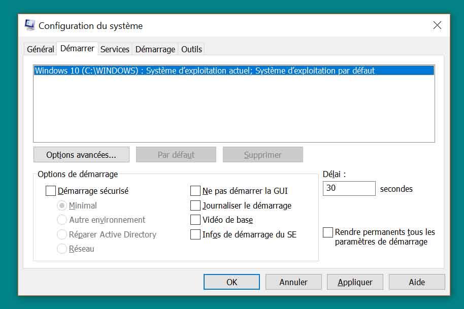 Windows 10 - les différents modes de démarrage