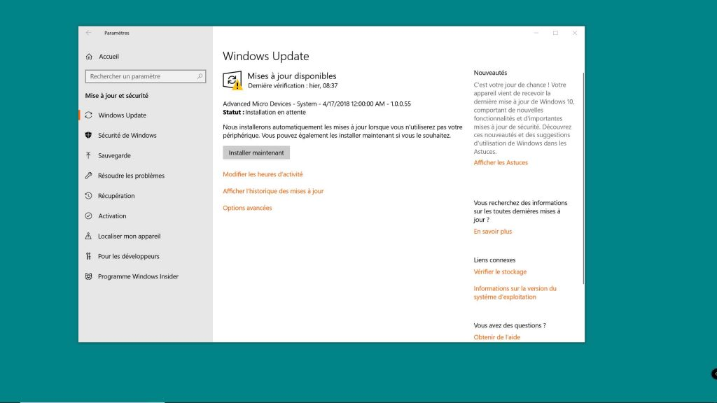 Windows 10, le service Windows Update