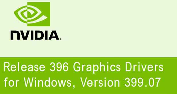 Drivers GeForce 399.07 WHQL de Nvidia