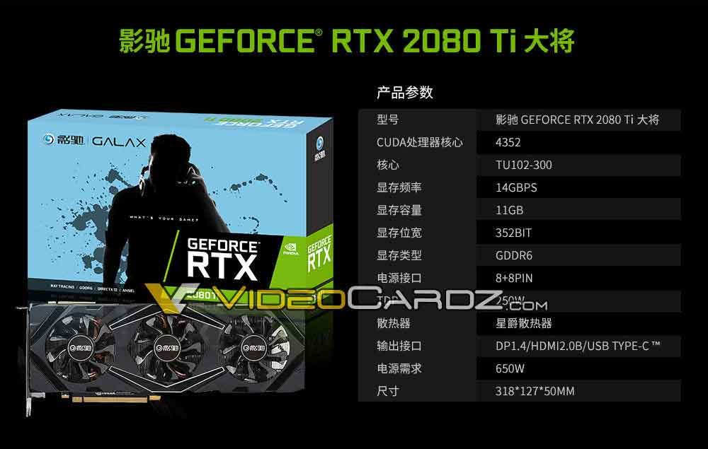 GeForce RTX 2080 Ti de Galax