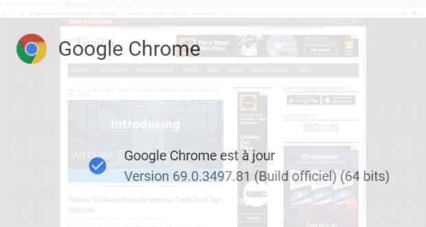 Navigateur Chrome 69