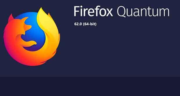 Navigateur Firtefox 62 de Mozilla