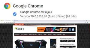 Navigateur Chrome 70 de Google