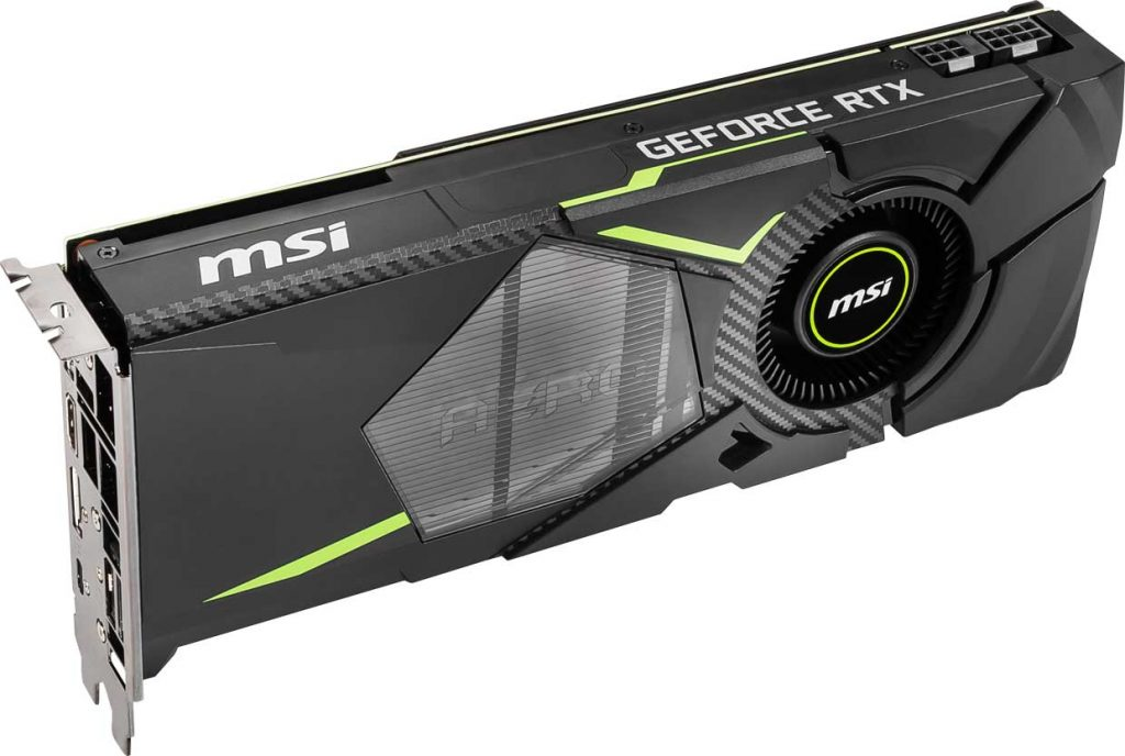 Carte graphique MSI  GeForce RTX 2070 Aero 8G