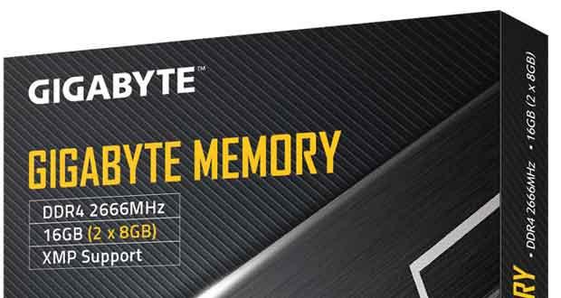 Kit DDR4 2x8 Go Gigabyte Memory 2666 MHz