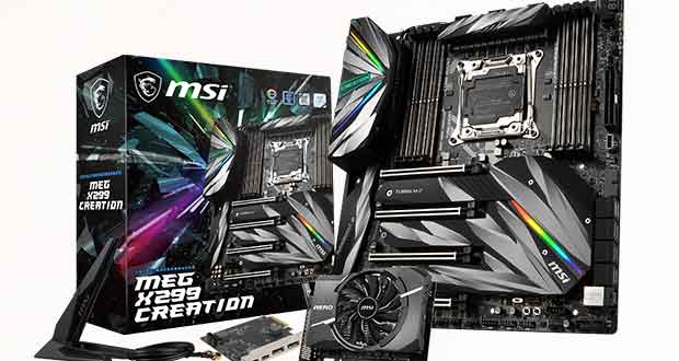 Carte mère MEG X299 Creation de MSI