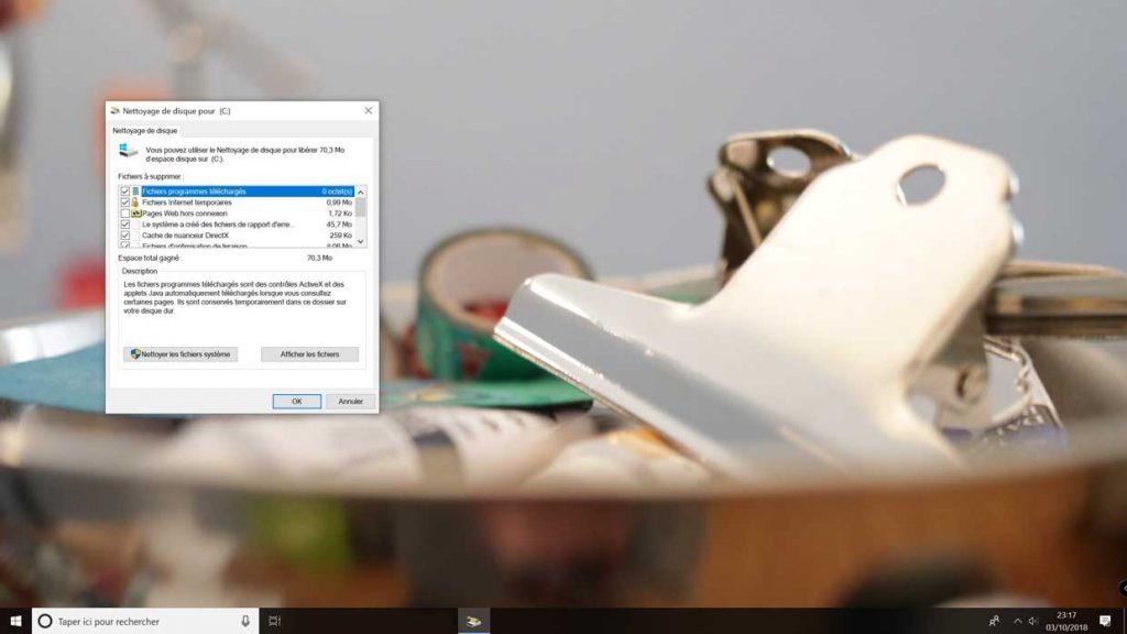 Windows 10 v1809, comment libérer de l'espace de stockage  ?