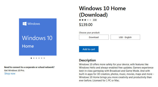 Windows 10 Home - Prix