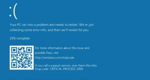Windows 10 et le BSOD, l'écran bleu de la mort