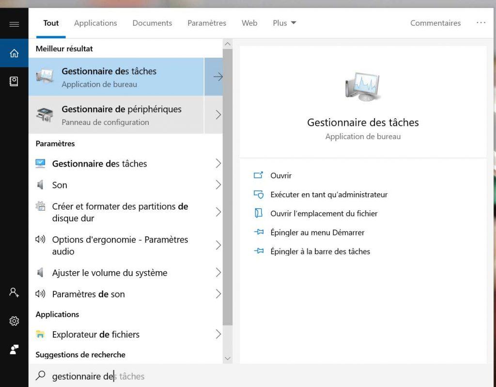 Windows 10 et le Gestionnaire de périphériques