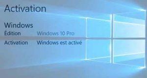 Windows 10 PrWindows 10 Professionnel – Activation