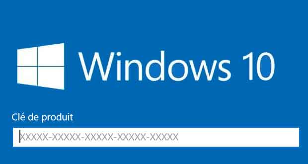 Windows 10 - Activation avec une clé de produit Windows 7