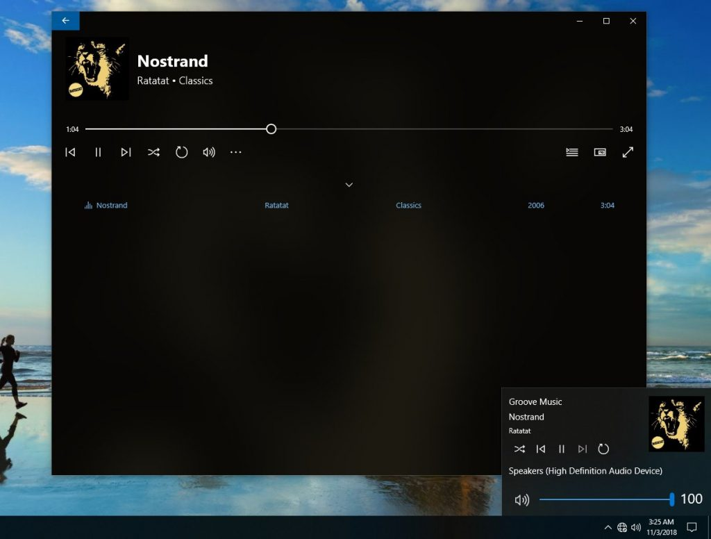 Windows 10 19H1, le volume