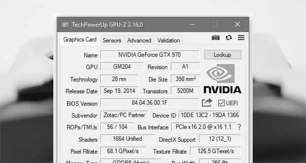 Application GPU-Z v12.16