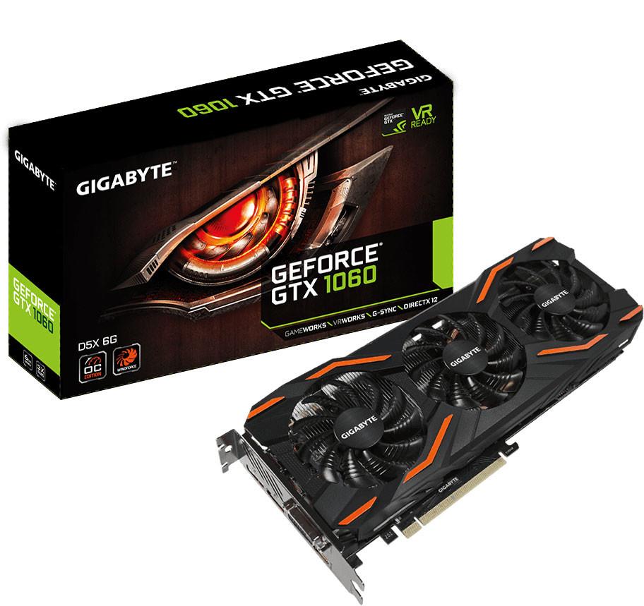 GeForce GTX 1060 D5X WindForce 3X OC de Gigabyte