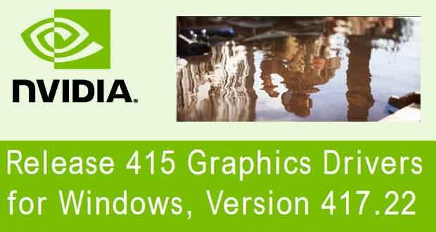 Les GeForce 417.22 WHQL