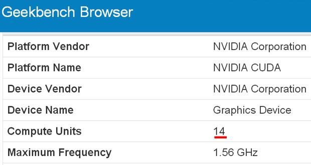 GeForce RTX/GTX 2050, Score sous Geekbench