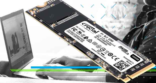 SSD Crucial P1 1 To 3D NAND M.2 NVMe PCIe