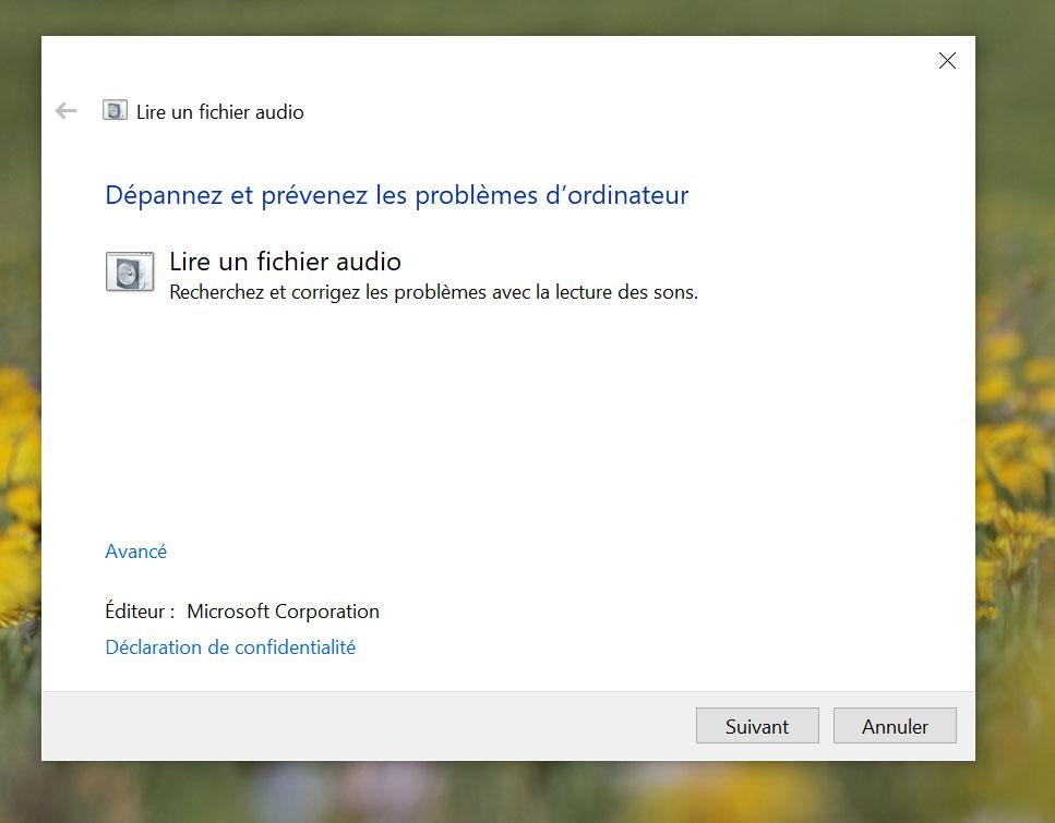 Comment résoudre les problèmes de son sous Windows 10 ?