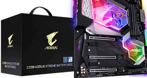 Carte mère Z390 Aorus Xtreme WaterForce de Gigabyte