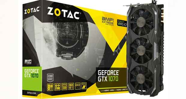 GeForce GTX 1070 AMP ! Extreme Core edition de Zotac
