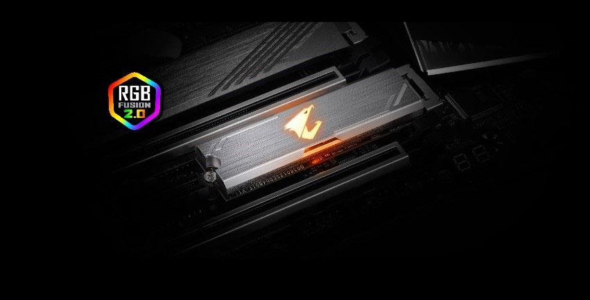 SSD M.S NVme Aorus RGB de Gigabyte