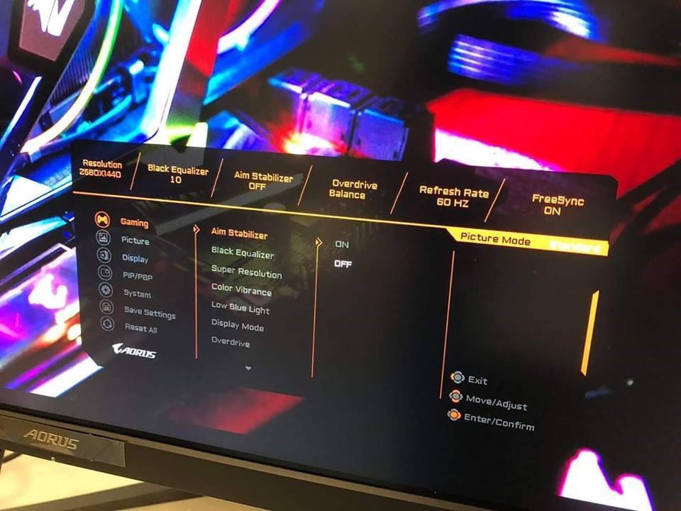 Moniteur gaming FreeSync 144 Hz de Gigabyte