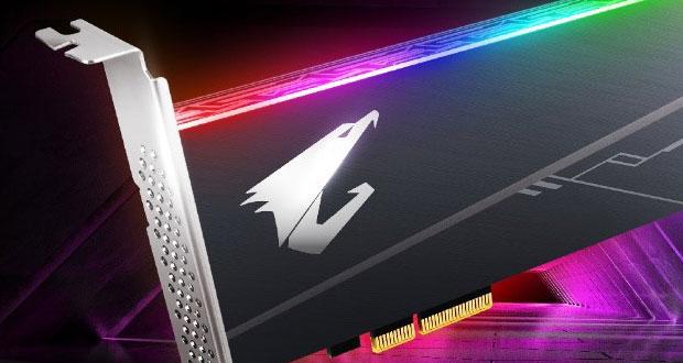 SSD AIC NVme PCIe x4 Aorus RGB de Gigabyte