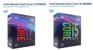 Processeurs Intel Core i7-9700KF et Core i5-9600KF