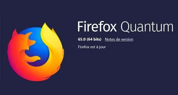 Navigateur Firefox 65 de Mozilla