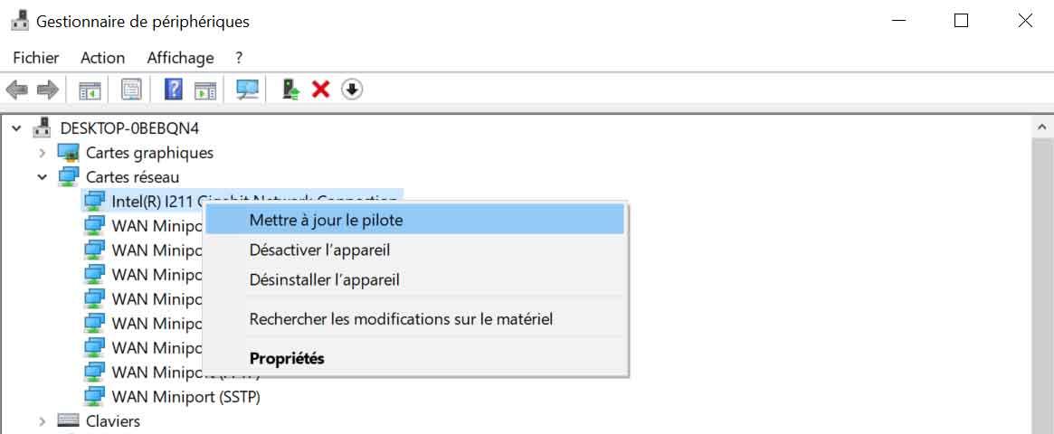 Windows 7 Et Kb4480970 Plus De Réseau Solution Ginjfo